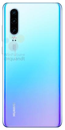 Huawei P30 bleu clair