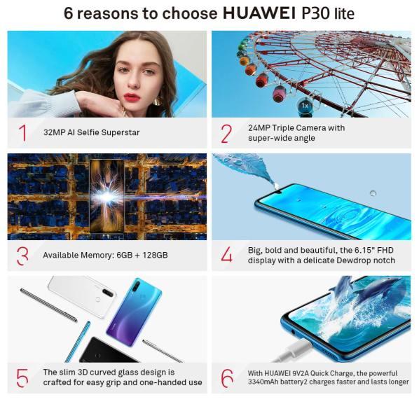 Huawei P30 Lite atouts