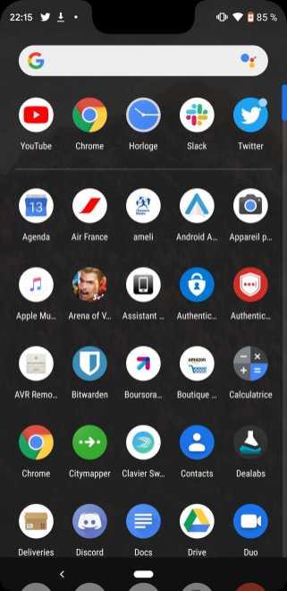 Thème sombre Google Pixel 3 4