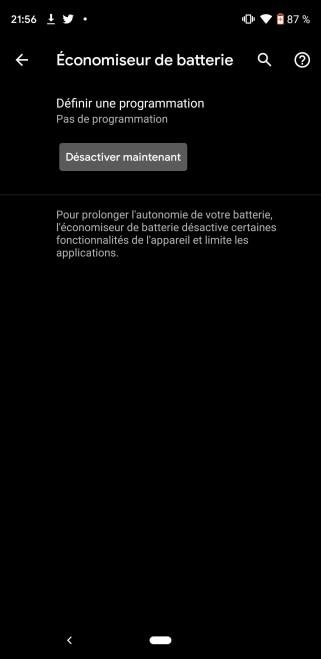 Thème sombre Google Pixel 3