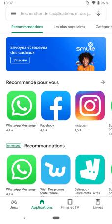 Google Play Store UI été 2019 (1)