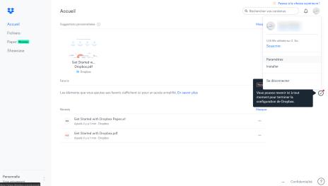 Dropbox double authentification 1