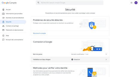 Google Double authentification 1