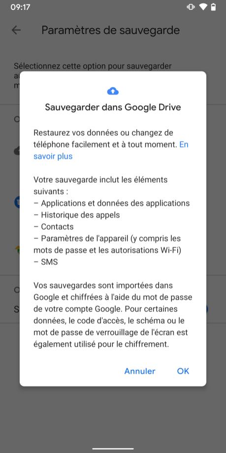 Google One sauvegarde (3)