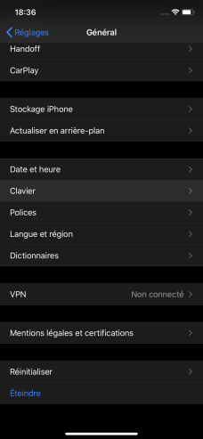 Remplacement texte iphone 2