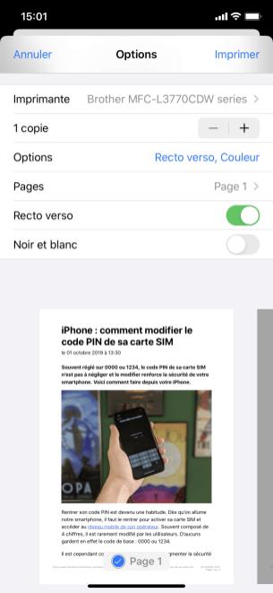 imprimer iphone 5