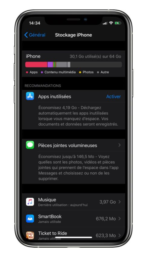 iPhone X stockage le 22 octobre