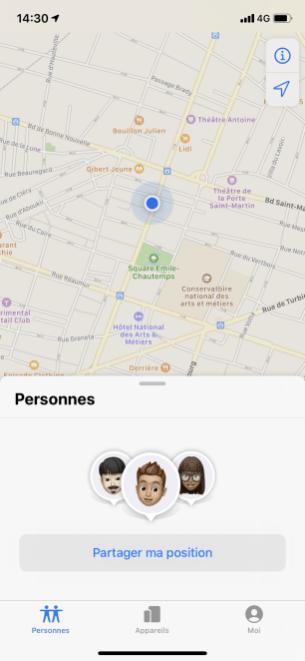Localiser amis iphone 1