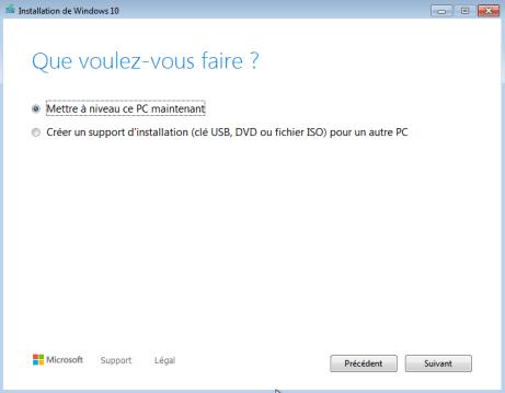 Windows 7 vers windows 10 2