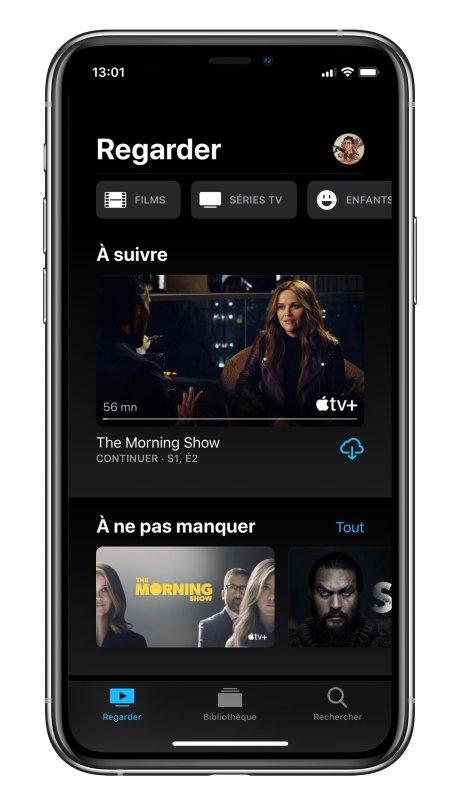 Apple TV interface générale