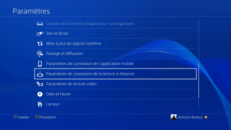 Lecture a distance ps4 2