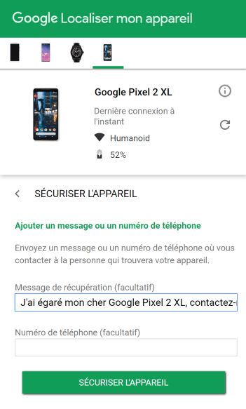 localiser smartphone android 6