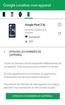 localiser smartphone android 8
