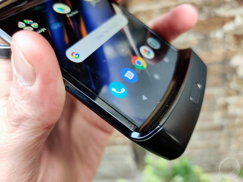 Menton du Motorola RAZR