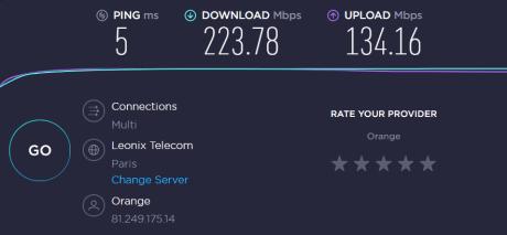 Speedtest sur le routeur Nest Wifi