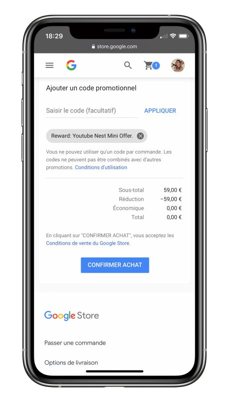 YouTube Premium offre nest mini iPhone 2