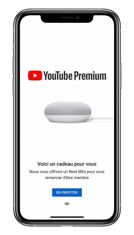 YouTube Premium offre nest mini iPhone