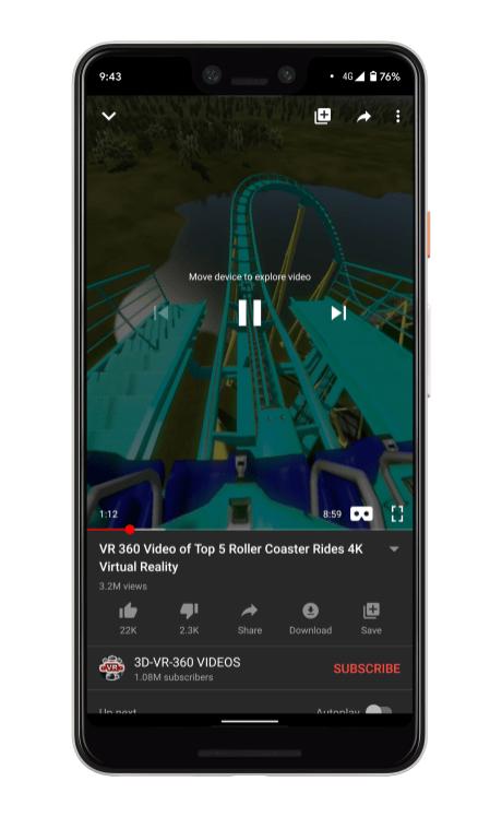 Video 360° YouTube