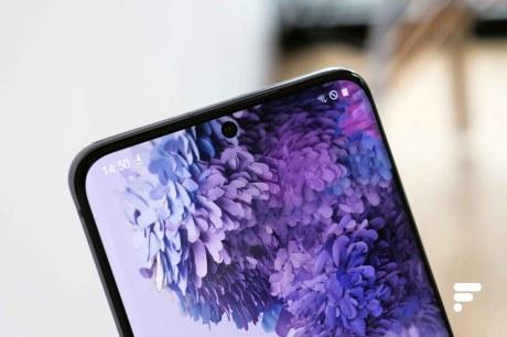 Samsung Galaxy S20 trou écran alter