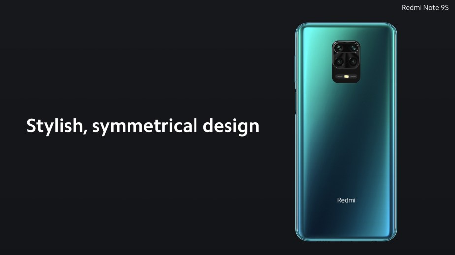 Redmi Note 9S back design