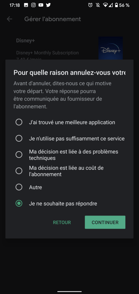 Résilier Play Store 5