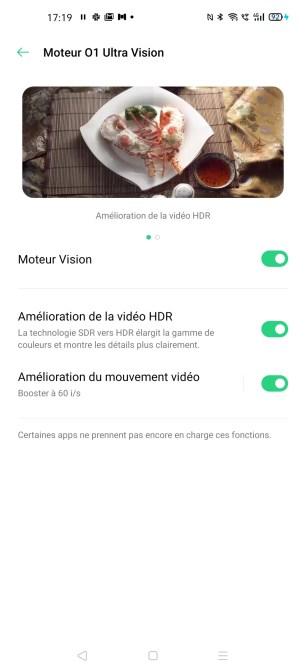 Le moteur 01 Ultra Vision sur l'Oppo Find X2 Pro