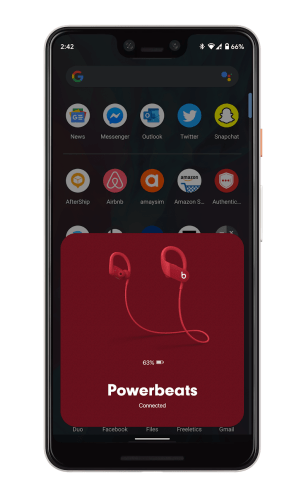 Beats Powerbeats 4 - Batterie Android