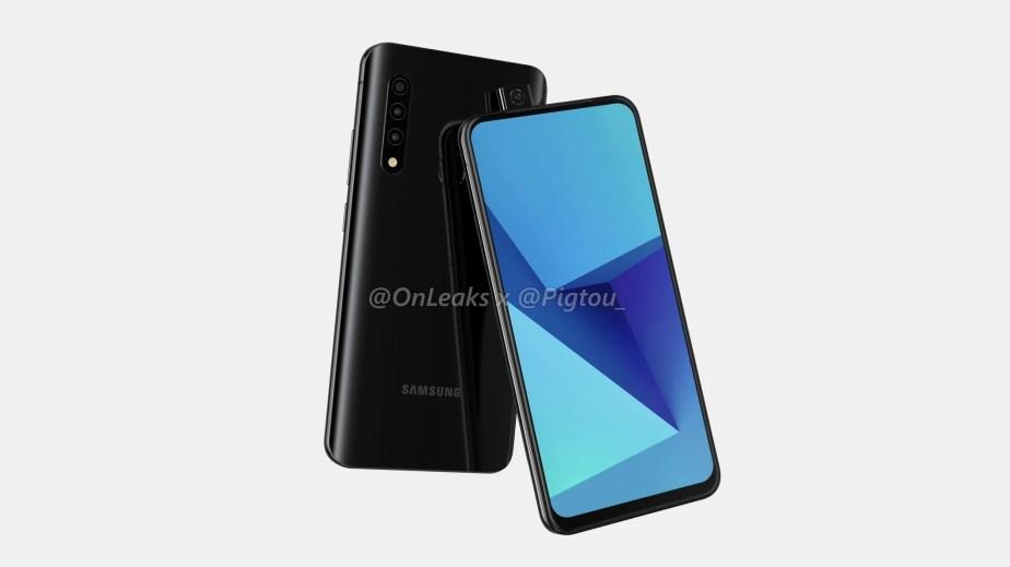 Le smartphone Samsung avec une pop-up caméra