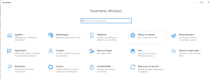 Reinitialiser paramètres Windows 2