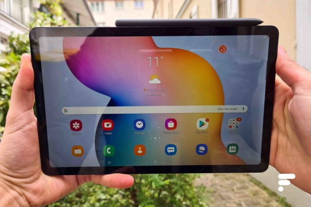 La face avant de la Samsung Galaxy Tab S6 Lite