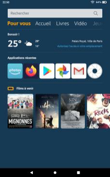 Captures d'écran Amazon Fire OS 7 1