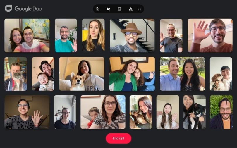 Google Duo à 32 personnes