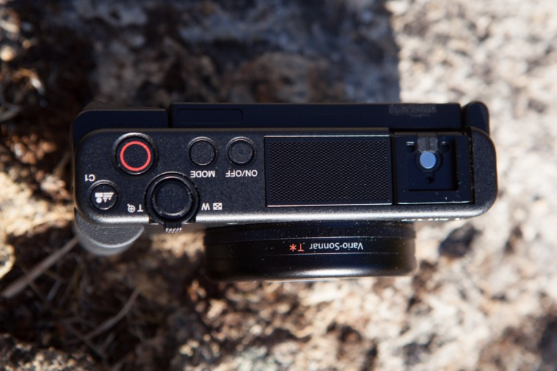 Le haut du Sony ZV-1
