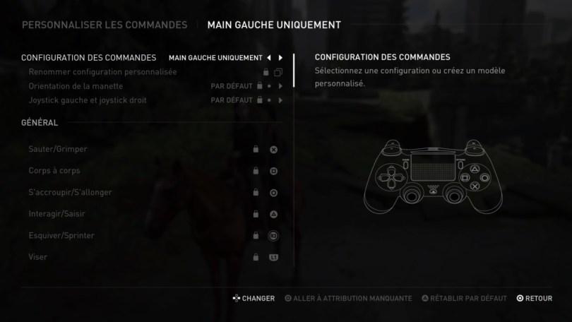 Les commandes personnalisables dans The Last of Us Part 2