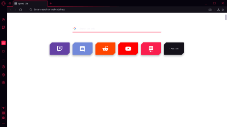 Opera GX dark mode web