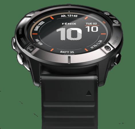 La montre fenix 6x Pro Solar et son écran Power Glass pour capter l'énergie solaire // Source : Garmin