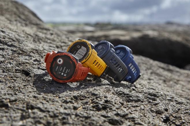 Les montres connectées Instinct Solar doté de la technologie Power Glass qui recharge à l'énergie solaire // Source : Garmin