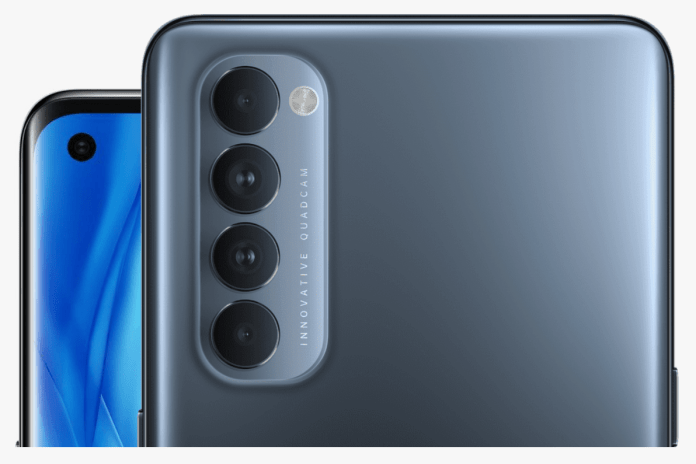 Photo module on the back of the Oppo Reno 4 Pro