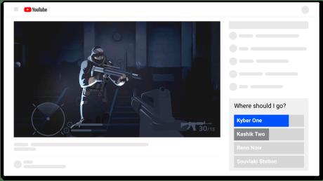 La fonction Crowd Choice de Google Stadia pour influencer la partie d'un streamer