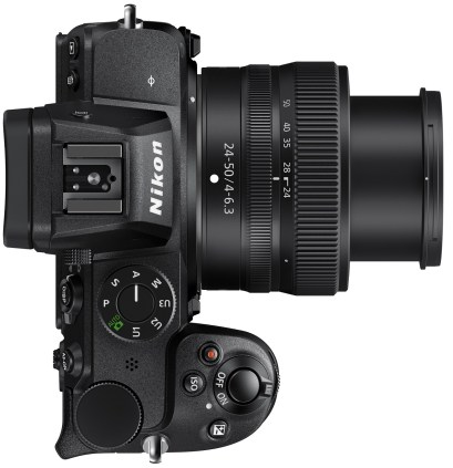 Le Nikon Z5 vu de haut