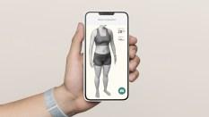 Votre corps scanné en 3D dans l'appli Halo Band // Source : Amazon