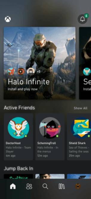 la future appli Xbox