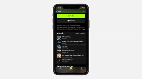 Apple Fitness + appli iphone
