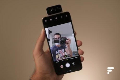 Flip Camera en mode selfie Asus Zenfone 7 Pro
