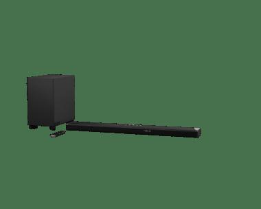 La barre de son Fidelio B95 de Philips et son caisson de basses