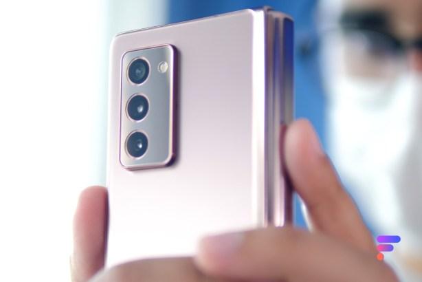 Module photo du Samsung Galaxy Z Fold 2