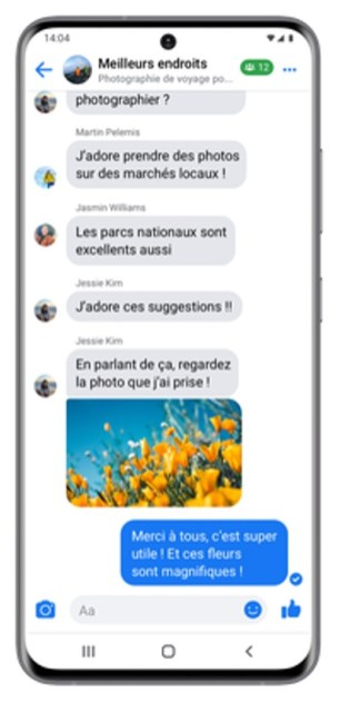 Facebook discussions groupe