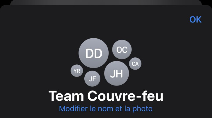 Apple Messages groupe