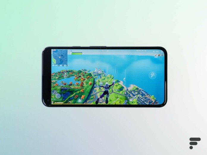 Fortnite on the Google Pixel 5