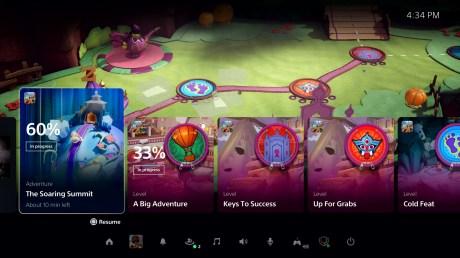 'interface PlayStation 5 Activités